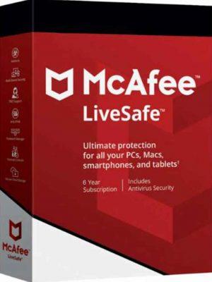 McAfee Livesafe 2020 Livesafe 1 PC 6 YIL