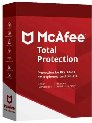 McAfee Total Protection 2020 – 6 YIL 1 PC