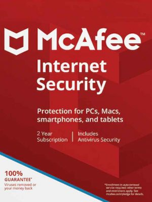 McAfee İnternet Security 1 PC 2 YIL