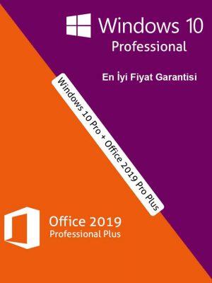 Windows 10 Pro + Office 2019 Pro Plus Ürün Anahtarı